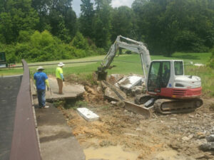 Removal of debris from Bridge Repair