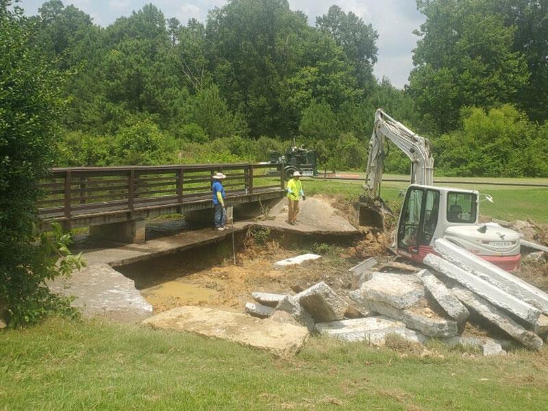 Continued removal of debris from Bridge Repair